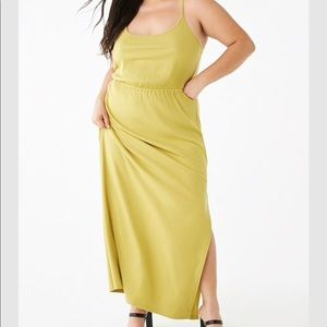 NWT Forever 21+ green maxi dress